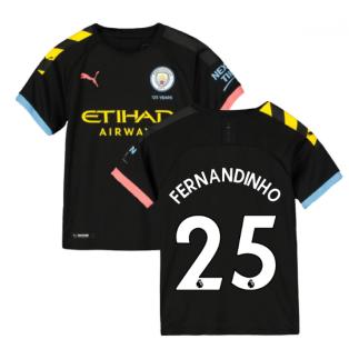 2019-2020 Manchester City Puma Away Football Shirt (Kids) (FERNANDINHO 25)