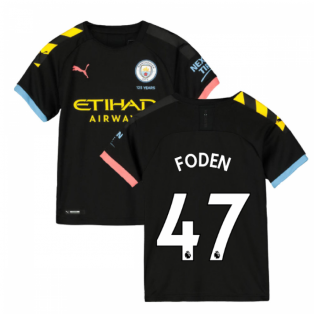 2019-2020 Manchester City Puma Away Football Shirt (Kids) (FODEN 47)
