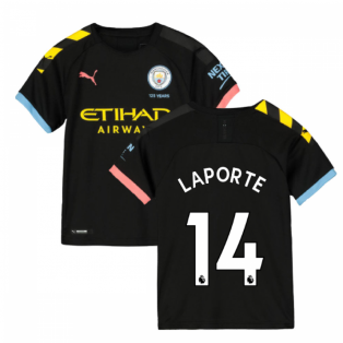 2019-2020 Manchester City Puma Away Football Shirt (Kids) (LAPORTE 14)
