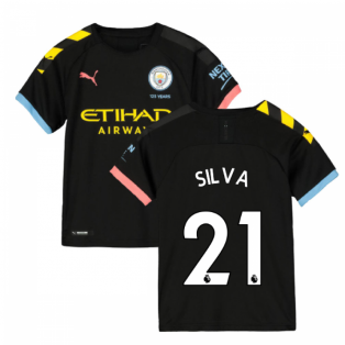 2019-2020 Manchester City Puma Away Football Shirt (Kids) (SILVA 21)