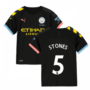 2019-2020 Manchester City Puma Away Football Shirt (Kids) (STONES 5)