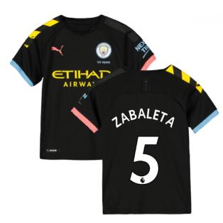 2019-2020 Manchester City Puma Away Football Shirt (Kids) (ZABALETA 5)