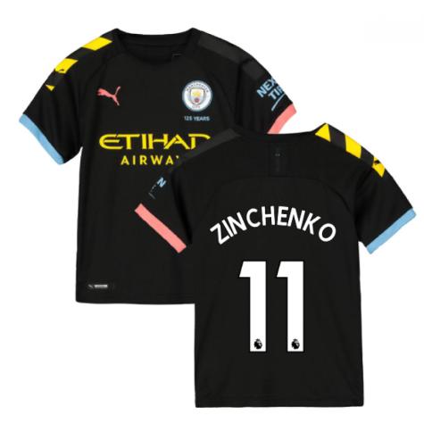 2019-2020 Manchester City Puma Away Football Shirt (Kids) (ZINCHENKO 11)