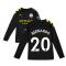2019-2020 Manchester City Puma Away Long Sleeve Shirt (Kids) (BERNARDO 20)