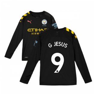 2019-2020 Manchester City Puma Away Long Sleeve Shirt (Kids) (G JESUS 9)