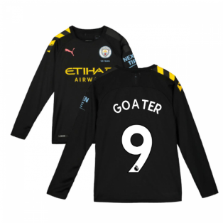 2019-2020 Manchester City Puma Away Long Sleeve Shirt (Kids) (GOATER 9)