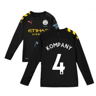 2019-2020 Manchester City Puma Away Long Sleeve Shirt (Kids) (KOMPANY 4)