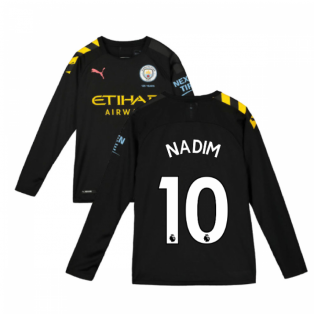 2019-2020 Manchester City Puma Away Long Sleeve Shirt (Kids) (Nadim 10)