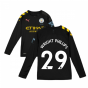 2019-2020 Manchester City Puma Away Long Sleeve Shirt (Kids) (WRIGHT PHILLIPS 29)