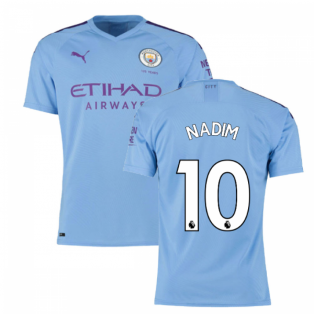2019-2020 Manchester City Puma Home Authentic Football Shirt (Nadim 10)