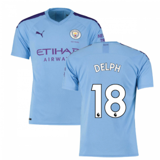 2019-2020 Manchester City Puma Home Football Shirt (DELPH 18)