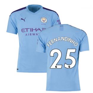 2019-2020 Manchester City Puma Home Football Shirt (FERNANDINHO 25)