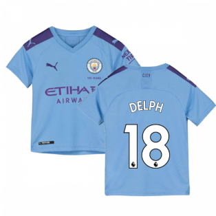 2019-2020 Manchester City Puma Home Football Shirt (Kids) (DELPH 18)