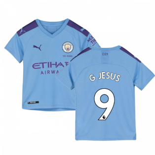 2019-2020 Manchester City Puma Home Football Shirt (Kids) (G JESUS 9)
