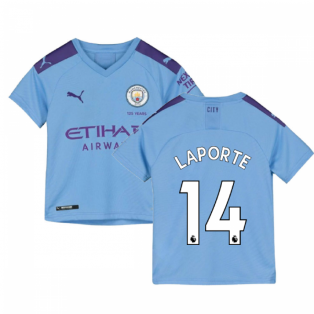 2019-2020 Manchester City Puma Home Football Shirt (Kids) (LAPORTE 14)