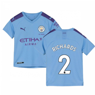 2019-2020 Manchester City Puma Home Football Shirt (Kids) (RICHARDS 2)