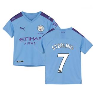 2019-2020 Manchester City Puma Home Football Shirt (Kids) (STERLING 7)
