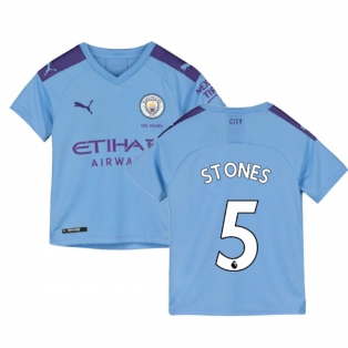 2019-2020 Manchester City Puma Home Football Shirt (Kids) (STONES 5)