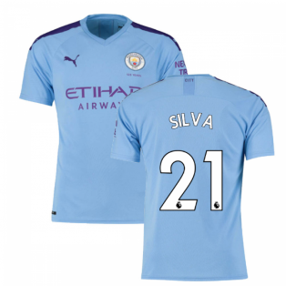 2019-2020 Manchester City Puma Home Football Shirt (SILVA 21)