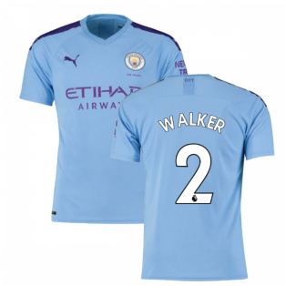 2019-2020 Manchester City Puma Home Football Shirt (WALKER 2)