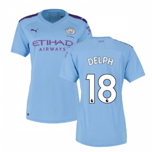 2019-2020 Manchester City Puma Home Ladies Shirt (DELPH 18)