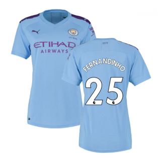 2019-2020 Manchester City Puma Home Ladies Shirt (FERNANDINHO 25)