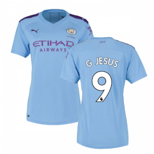 2019-2020 Manchester City Puma Home Ladies Shirt (G JESUS 9)