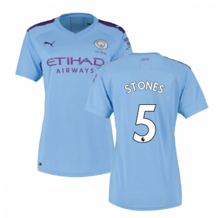 2019-2020 Manchester City Puma Home Ladies Shirt (STONES 5)