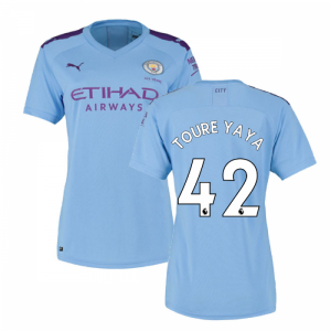 2019-2020 Manchester City Puma Home Ladies Shirt (TOURE YAYA 42)