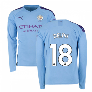 2019-2020 Manchester City Puma Home Long Sleeve Shirt (DELPH 18)