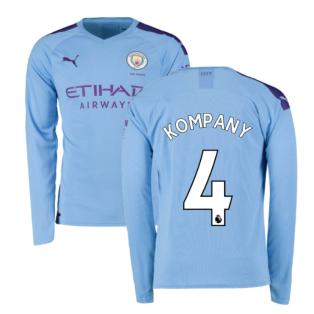 2019-2020 Manchester City Puma Home Long Sleeve Shirt (KOMPANY 4)
