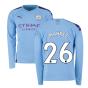 2019-2020 Manchester City Puma Home Long Sleeve Shirt (MAHREZ 26)