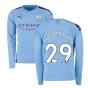 2019-2020 Manchester City Puma Home Long Sleeve Shirt (WRIGHT PHILLIPS 29)