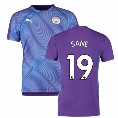2019-2020 Manchester City Puma Stadium Jersey (Purple) (Sane 19)