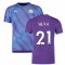 2019-2020 Manchester City Puma Stadium Jersey (Purple) (Silva 21)