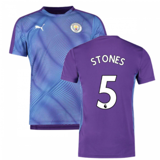 2019-2020 Manchester City Puma Stadium Jersey (Purple) (Stones 5)