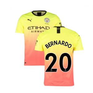 2019-2020 Manchester City Puma Third Football Shirt (BERNARDO 20)