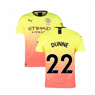 2019-2020 Manchester City Puma Third Football Shirt (DUNNE 22)