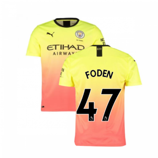 2019-2020 Manchester City Puma Third Football Shirt (FODEN 47)