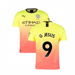 2019-2020 Manchester City Puma Third Football Shirt (G JESUS 9)