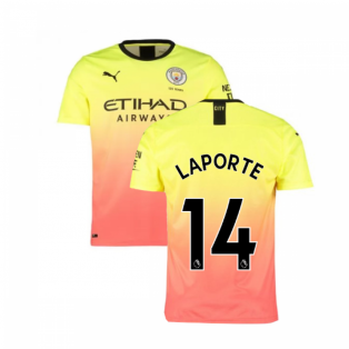 2019-2020 Manchester City Puma Third Football Shirt (LAPORTE 14)