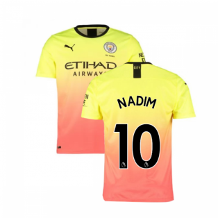 2019-2020 Manchester City Puma Third Football Shirt (Nadim 10)
