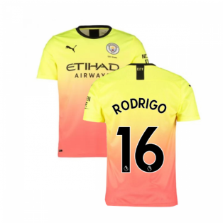 2019-2020 Manchester City Puma Third Football Shirt (Rodrigo 16)