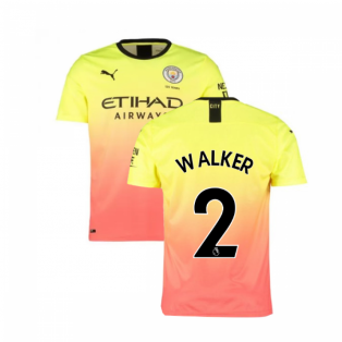 2019-2020 Manchester City Puma Third Football Shirt (WALKER 2)
