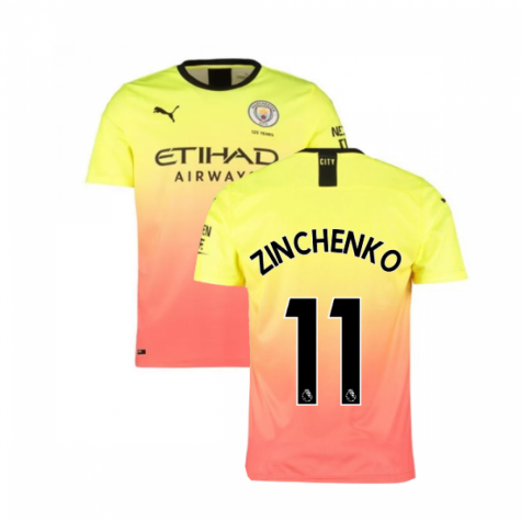 2019-2020 Manchester City Puma Third Football Shirt (ZINCHENKO 11)