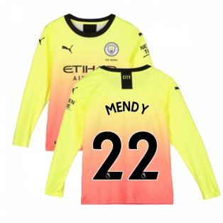 2019-2020 Manchester City Puma Third Long Sleeve Shirt (Kids) (Mendy 22)