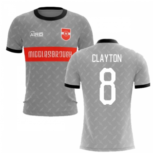 2019-2020 Middlesbrough Away Concept Football Shirt (Clayton 8)