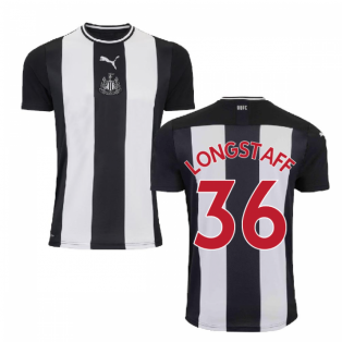 2019-2020 Newcastle Home Football Shirt (Kids) (LONGSTAFF 36)