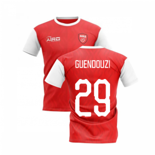 2020-2021 North London Home Concept Football Shirt (GUENDOUZI 29)