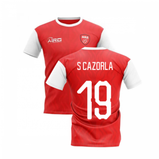 2020-2021 North London Home Concept Football Shirt (S CAZORLA 19)